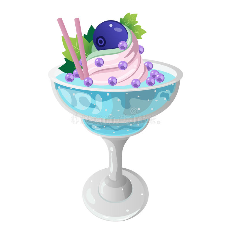Blue Berry Smoothie royalty free stock photo