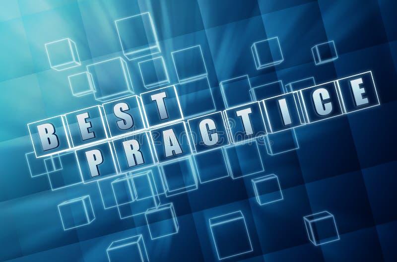 Download Blue Best Practice In Glass Blocks Stock Illustration - Image: 27144065