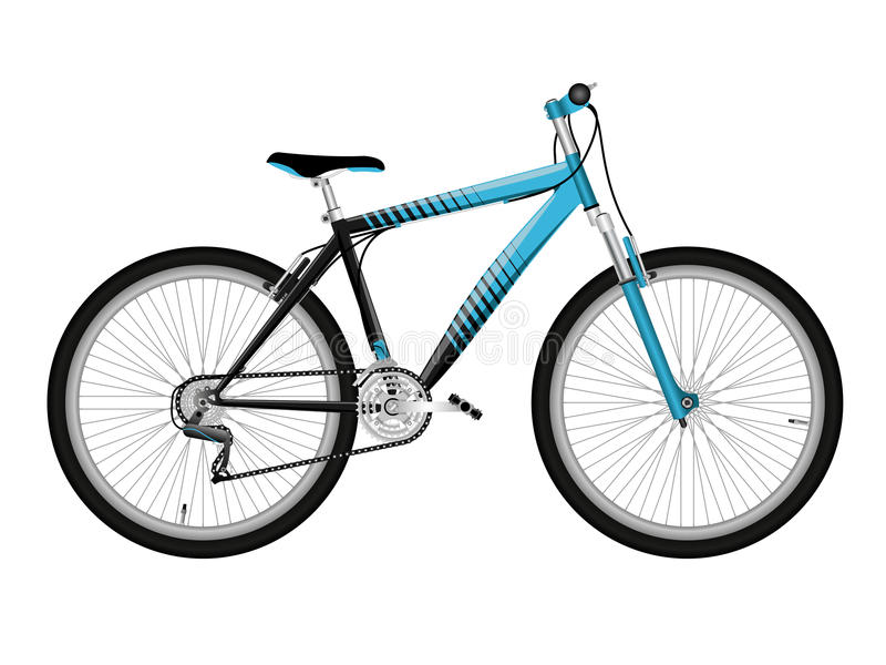 Blue bicycle royalty free stock image