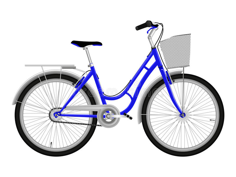 Blue bicycle stock photography