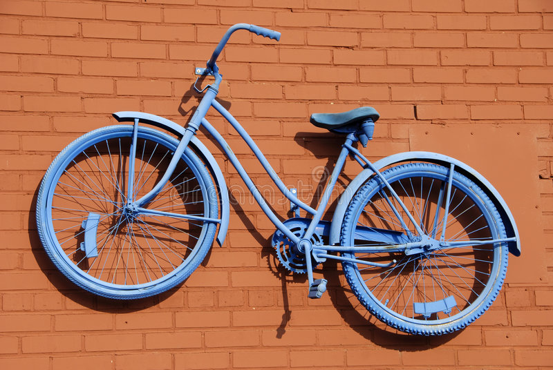 Blue Bicycle Abstract stock photo