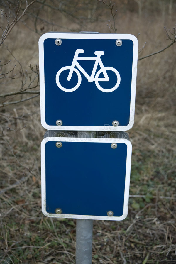 Blue Bicycle Sign Royalty Free Stock Photos