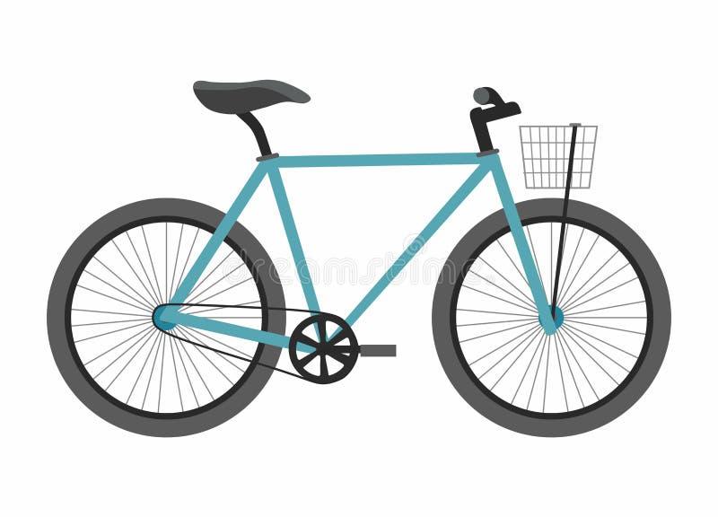 Blue bike bicycle isolated on white background vector illustration