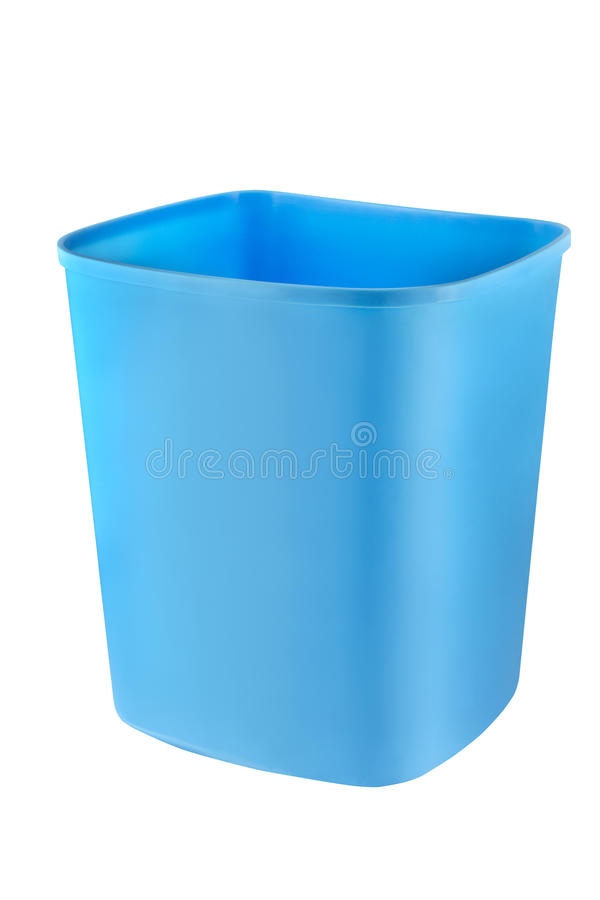 Download Blue Bin stock photo. Image of container, still, blue - 20437724