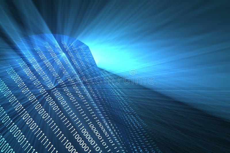 Blue binary background stock illustration