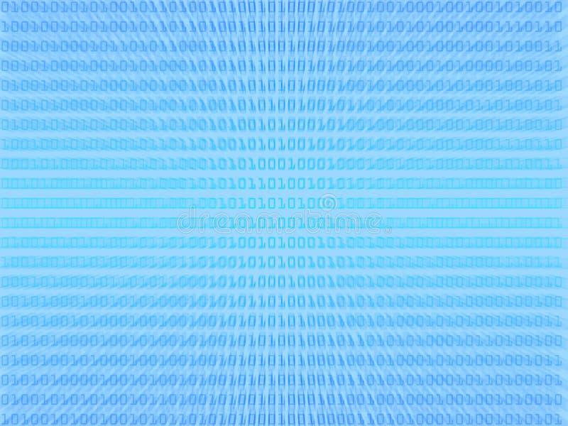 Blue binary code background royalty free illustration