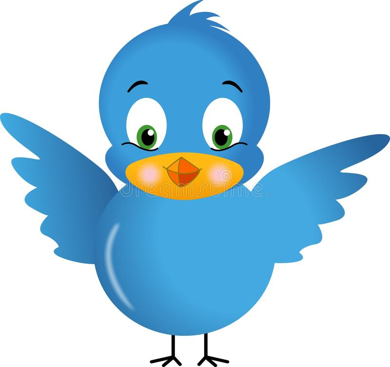 Download Blue Bird stock illustration. Image of feather, happy - 23348758