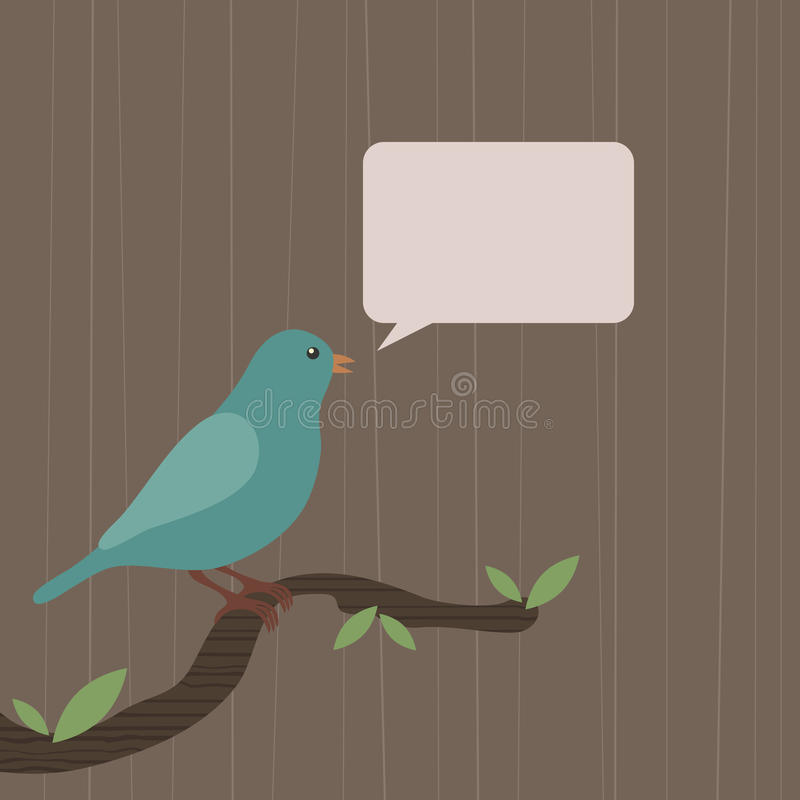 Download Blue bird stock vector. Image of illustration, space, canary - 9614470