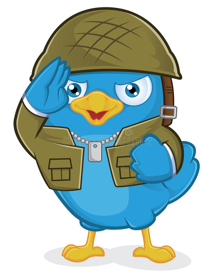 Blue Bird Army vector illustration