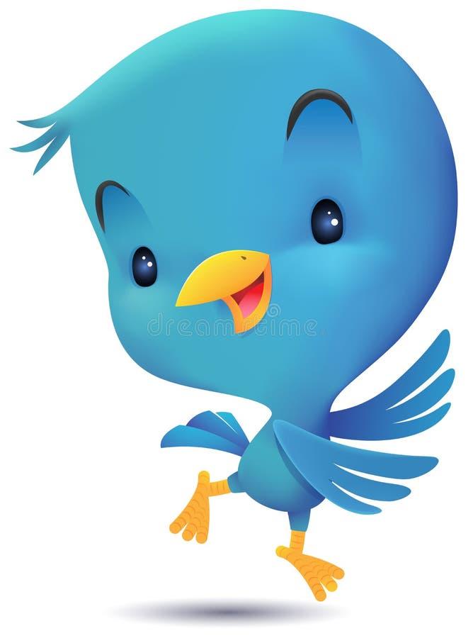 Blue Bird Dancing vector illustration