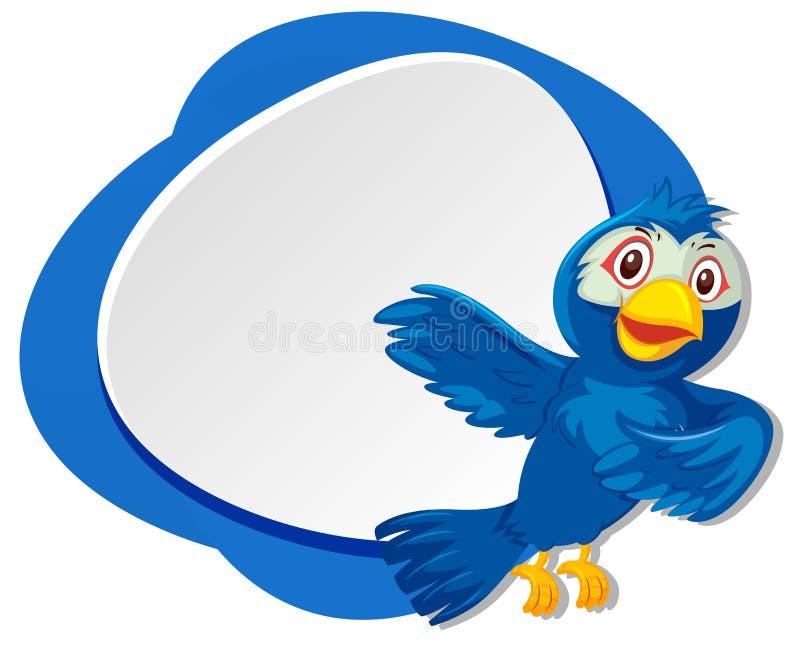 Blue bird frame concept. Illustration vector illustration