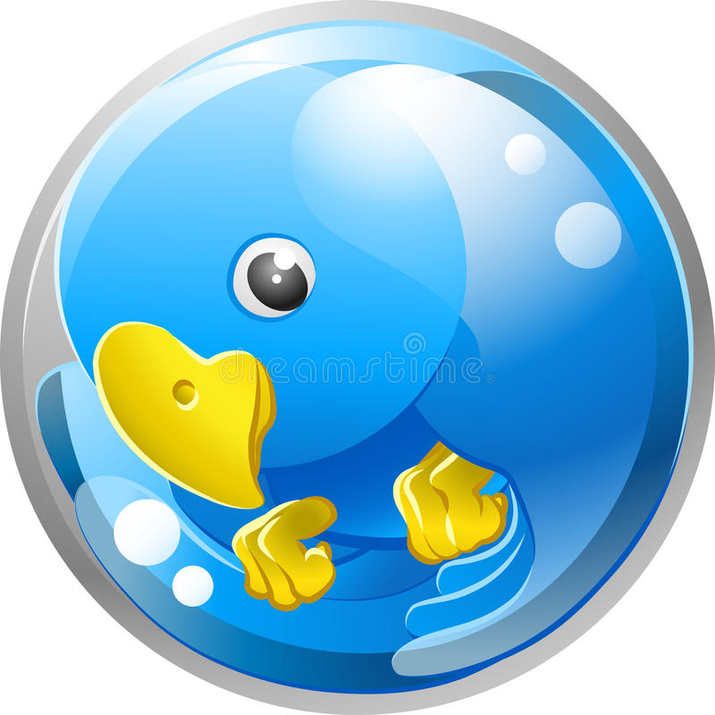 Blue bird twitter ing icon stock illustration