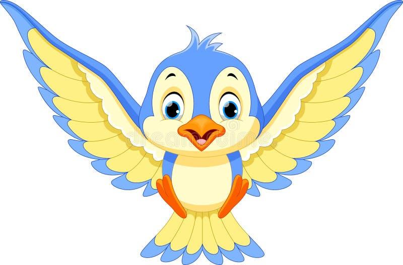 Blue bird will land. Vector illustration of Blue bird will land vector illustration
