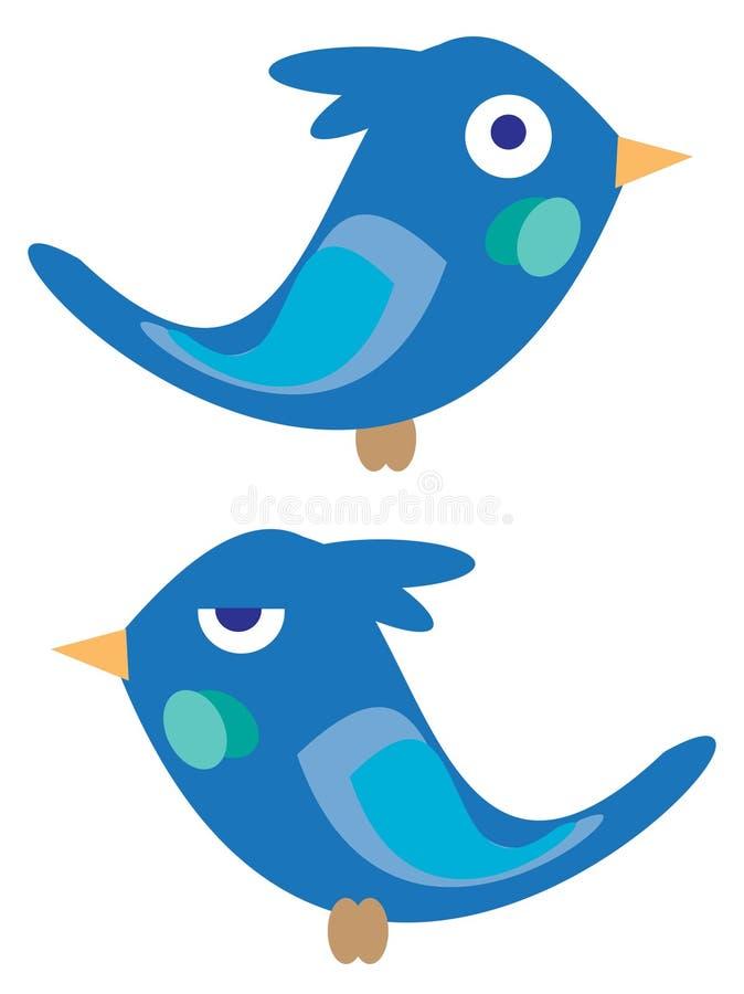 Download Blue birdies stock vector. Image of cartoon, comic, color - 23143915