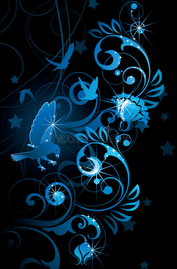 Download Blue Birds And Vines Royalty Free Stock Photo - Image: 9286175