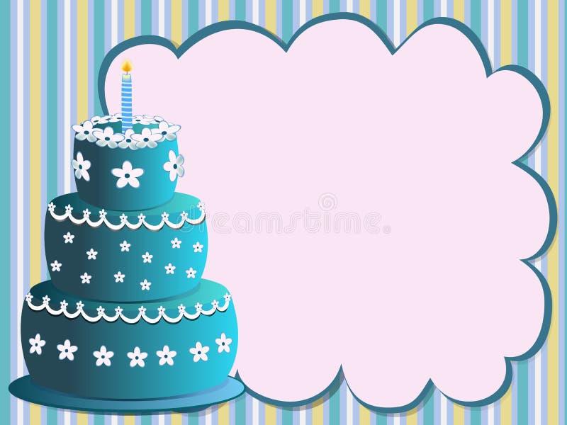 Blue birthday cake royalty free stock photos