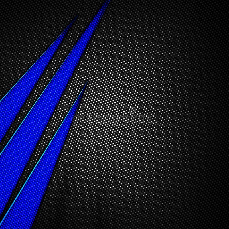 blue and black carbon fiber background stock illustration
