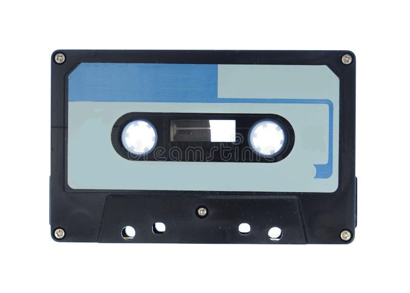 Blue and Black cassette audio tape