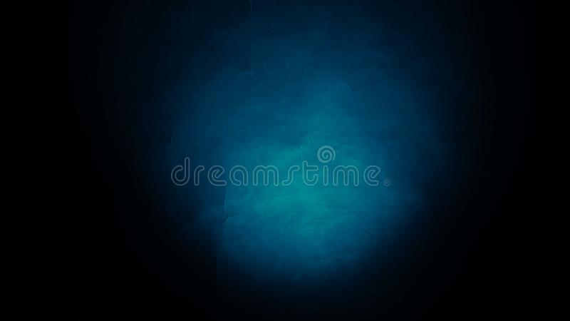 Blue black crumpled paper abstract blur background stock image