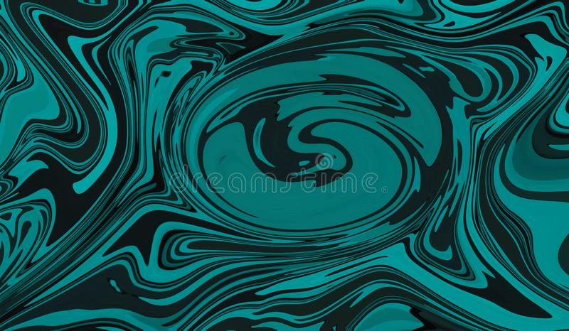 Blue and black ethnic abstract art background illustration. Beautiful vector illustration