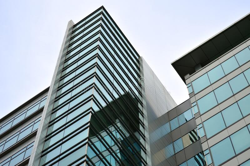 Blue and Black Glass Building Exterior royalty free stock images