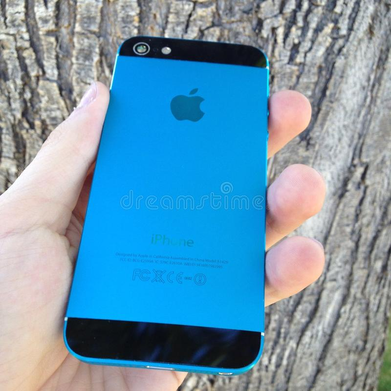 Blue black iphone stock images