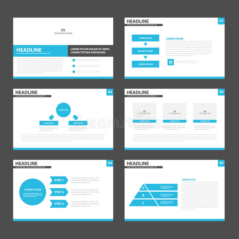 Blue Black Presentation Layout Templates Infographic Elements Flat - Marketing layout templates