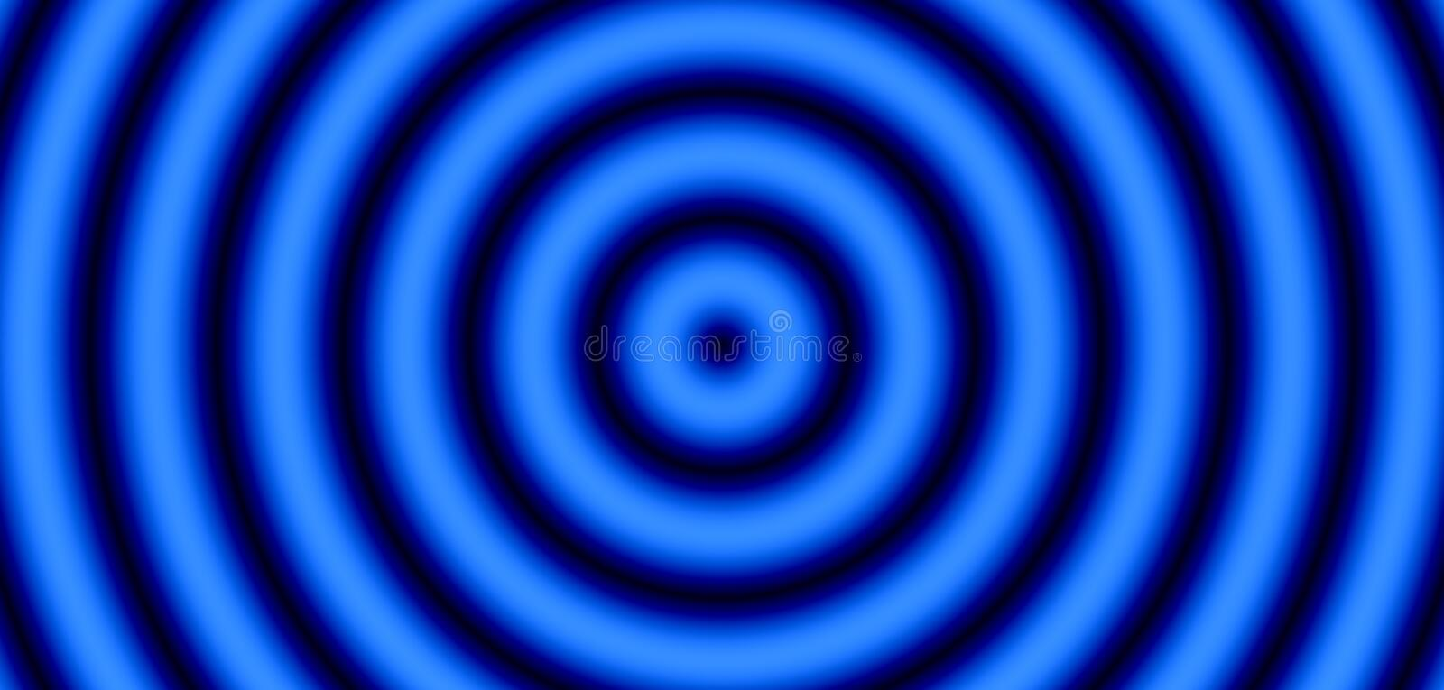 Blue and black target