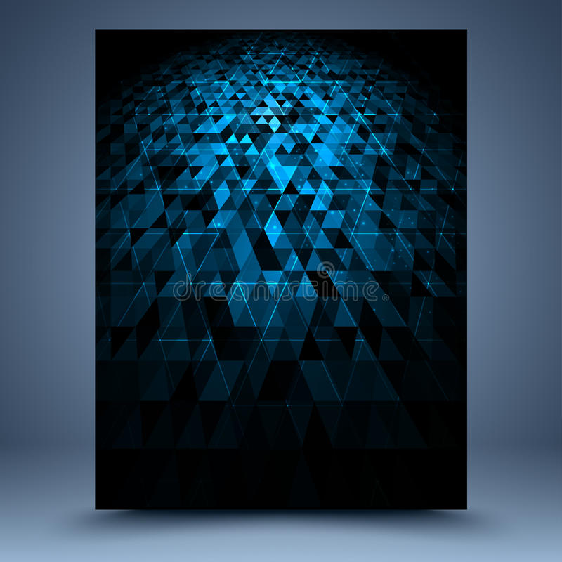 Blue and black geometric abstract background vector illustration