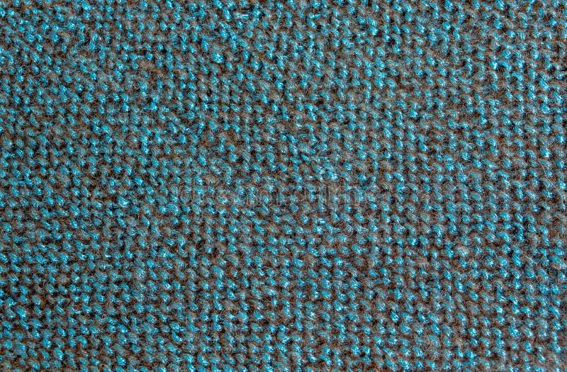 Blue black threads in fabric stock photo