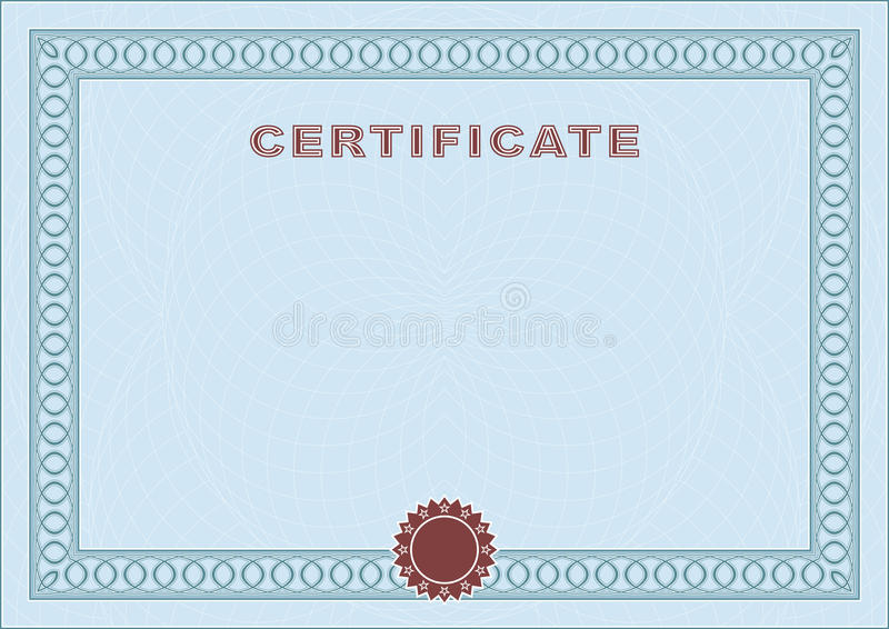 Blue Blank Certificate Vector Image 49091589 – Blank Certificate Forms