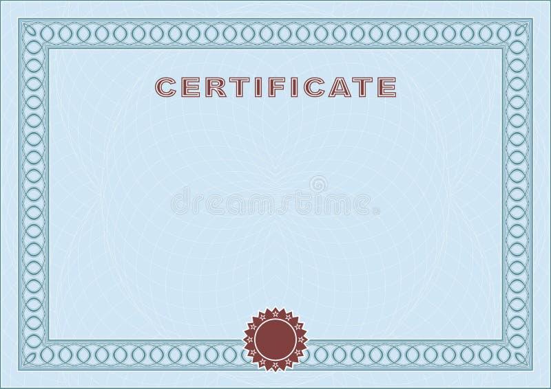 Blue blank certificate stock vector. Illustration of framework ...