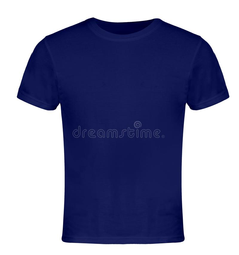 Blue Blank T-shirt Front stock photo