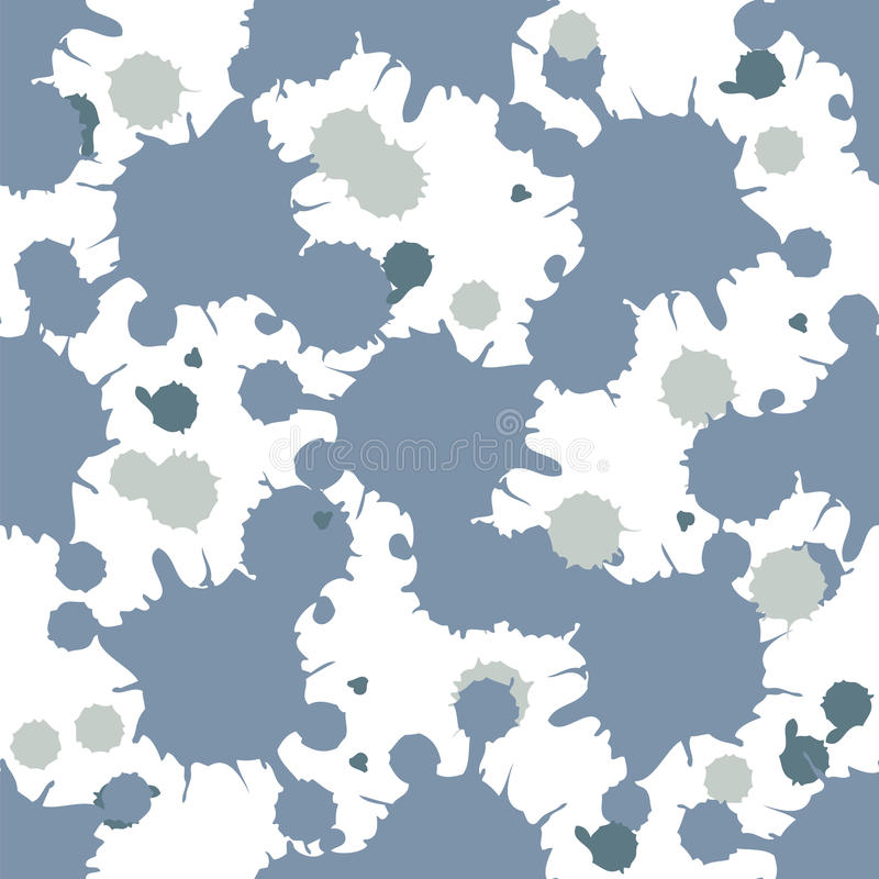 Blue blobs seamless. Light Blue splash seamless vector background royalty free illustration