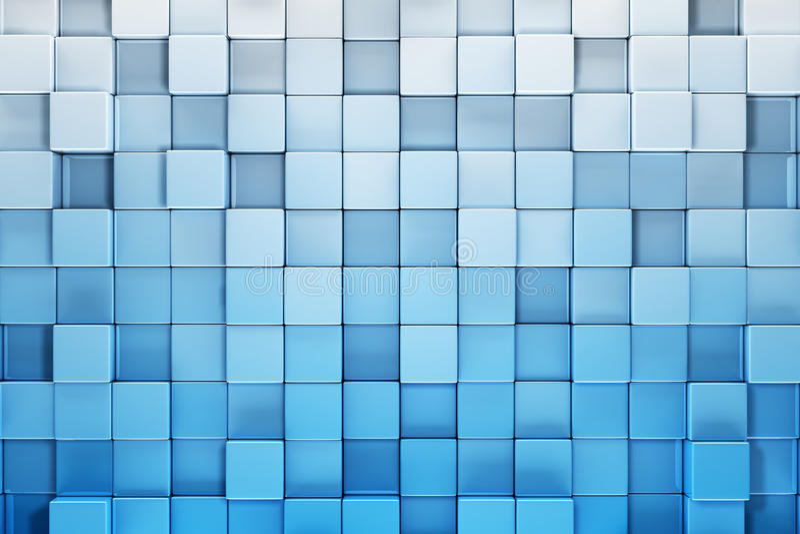 Blue blocks abstract background stock illustration