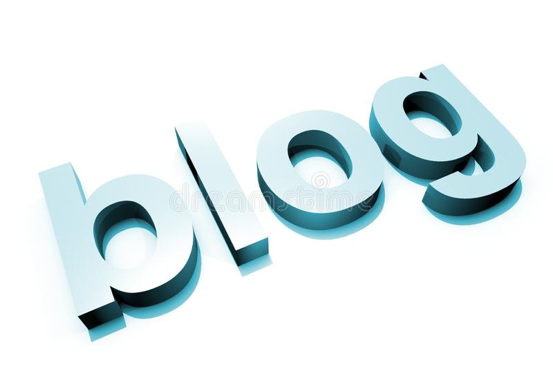 Download Blue Blog 3D Letter Stock Photography - Image: 25955322