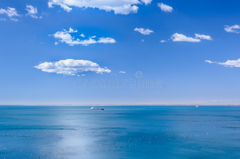 Blue in blue, marine scene royalty free stock photo