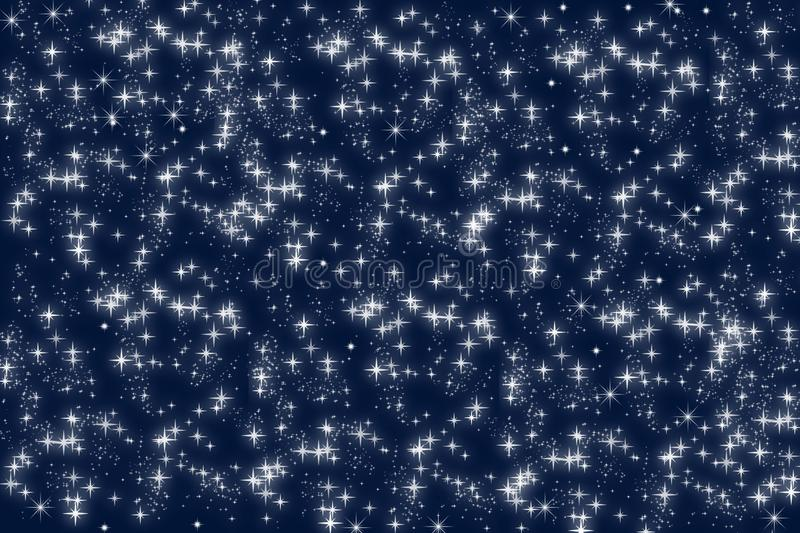 Blue blur background with stars vector illustration