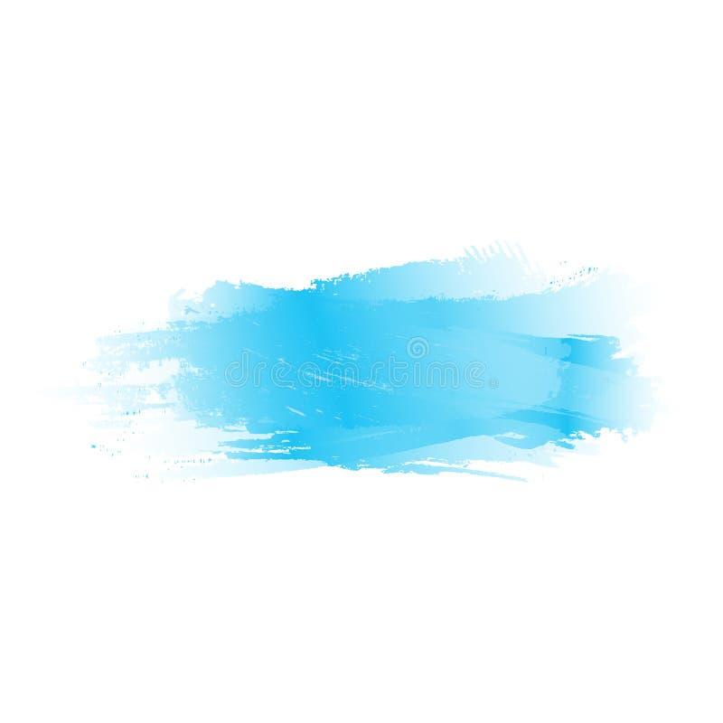 Blue blur. watercolor brush stroke. color splash. abstract blot. vector background. Design element for greeting card, T-shirt, banner, invitation, postcard royalty free illustration