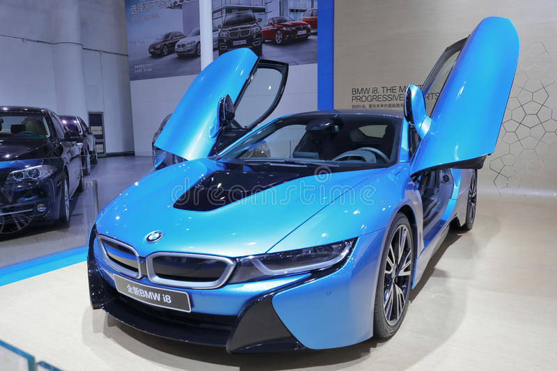 Download Blue Bmw I8 Editorial Image Of Drive Auto Machine