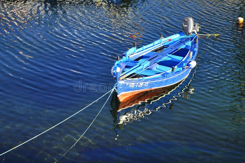 the blue boat royalty free stock image