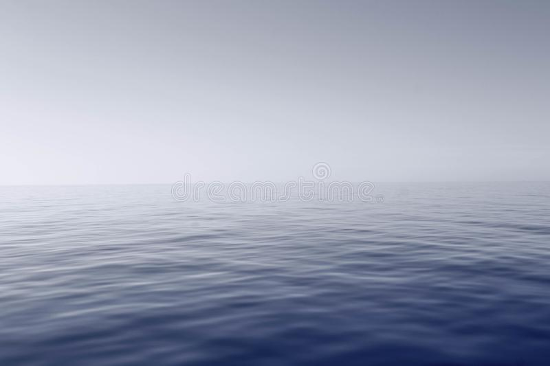Blue Body of Water With Fog stock photos