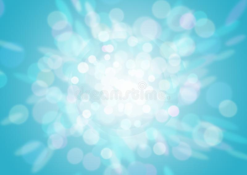 Blue bokeh abstract light background royalty free stock image