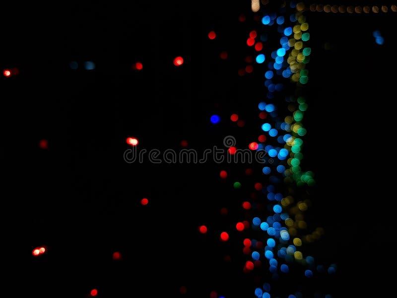 Blue bokeh abstract light background. Background, lights, light, abstract, blue, bokeh, violet, glitter, black, magenta, celebration, magic, glow, blur stock photos