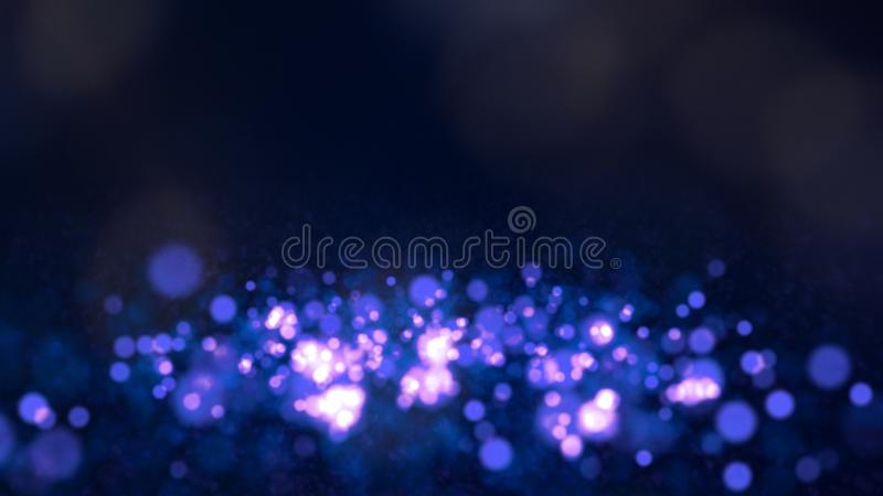 Blue bokeh background for technology concept, abstract illustration stock illustration