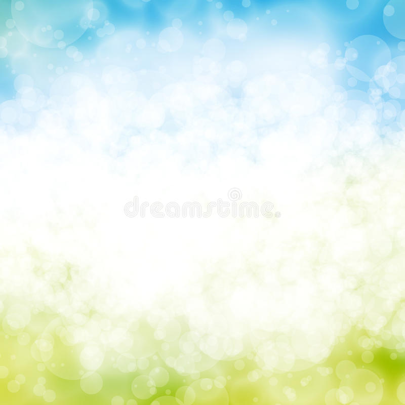 Blue bokeh background. A blue and white bubble background design stock image