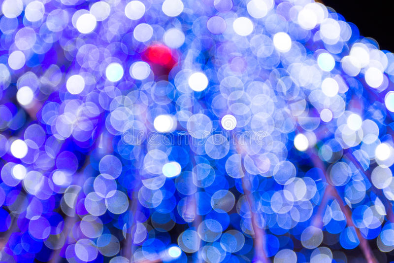 Blue bokeh. On christmas tree royalty free stock images