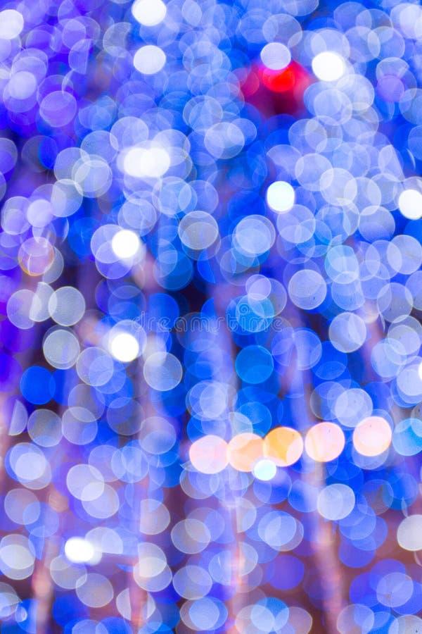 Blue bokeh. On christmas tree royalty free stock photo