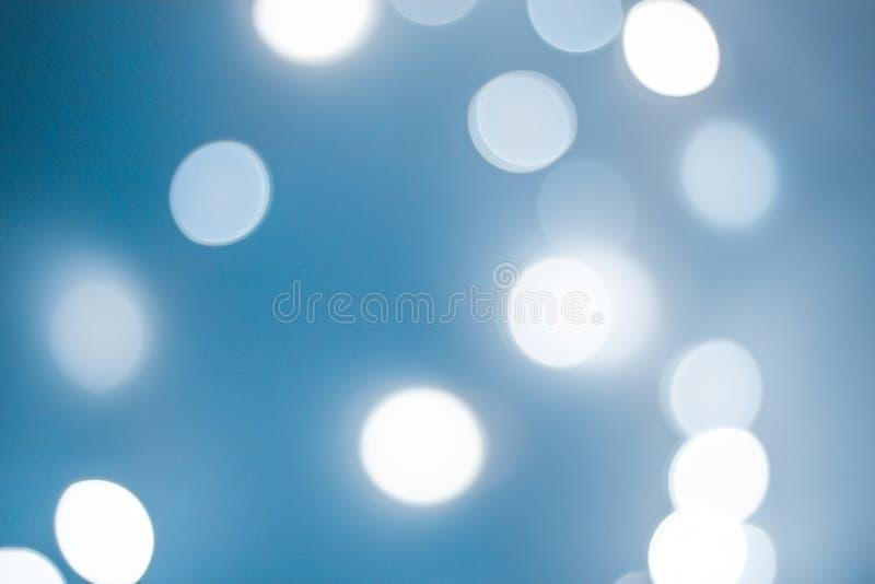 Blue bokeh stock image
