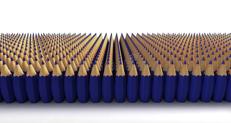 Download Blue bomb pencils stock illustration. Image of bomb, empty - 28436438